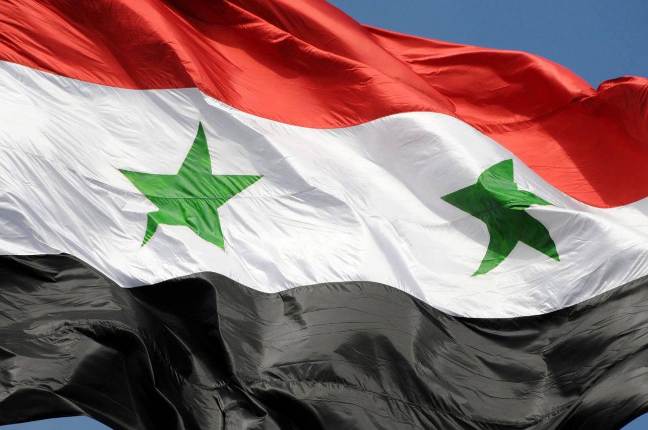 The_flag_of_Syrian_Arab_Republic_Damascus,_Syria
