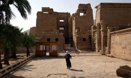 Egypt's Medinet Habu temple in Luxor