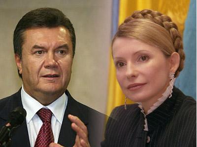 Viktor Ianukovici Iulia Tymoshenko