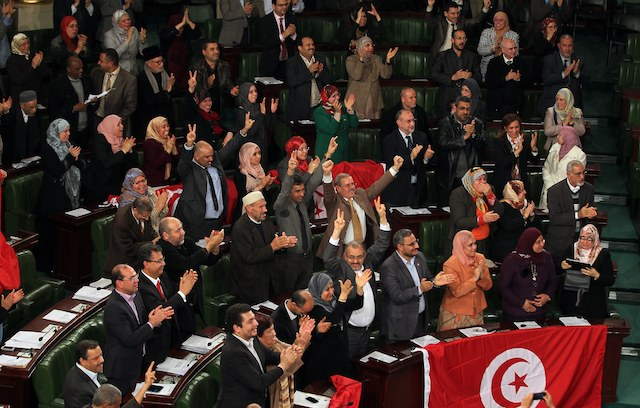 The Tunisian National Constituent Assembly (NCA) passes a new constitution