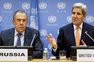 Ministrul de Externe al Rusiei, Serghei Lavrov (stânga) și Secretarul de Stat american, John Kerry, sunt principalii artizani ai încheierii armistițiului din Siria, primul pas în procesul de încheiere al războiului civil care a măcinat țara în ultimii 5 ani