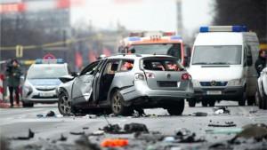 Poliția din Berlin confirmă decesul șoferului mașinii VW Passat care a explodat pe o șosea din capitala Germaniei. Sursă foto: Twitter