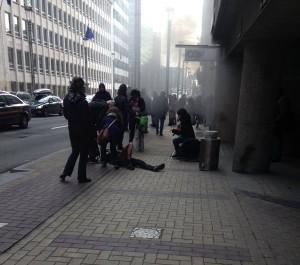 Bruxelles metrou Maalbek explozie