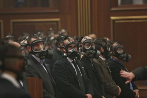 Kosovo parlament gaze lacrimogene