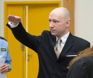 anders breivik salut nazist proces norvegia