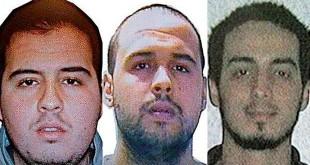 Frații Brahim și Khalid el-Barkaoui (stânga și centru) au fost identificați drept autorii atacurilor sinucigașe de la metroul din Bruxelles și din aeroport. Un alt terorist, Najim Laachraoui (dreapta), se află în viață și este căutat de autorități.