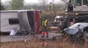 spania autocar erasmus accident