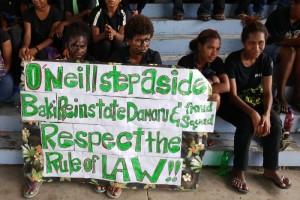 papua noua guinee proteste premier studenti