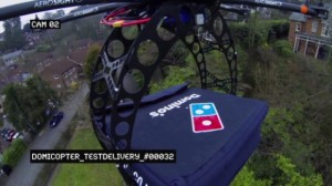 domino pizza livrare drona