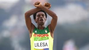 etiopia feyisa lilesa maraton azil