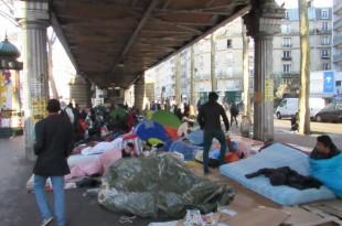 franta paris tabara refugiati pod stalingrad evacuare