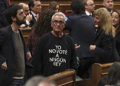 spania protest parlament rege