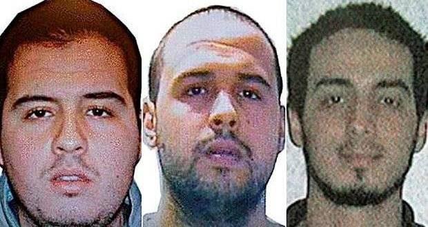 Pe 22 martie, întreaga Europă a fost zguduită de atentatele orchestrate de Frații Brahim și Khalid el-Barkaoui (stânga și centru), respectiv Najim Laachraoui, care au detonat explozibili la aeroportul din Bruxelles și în metroul din capitala belgiană
