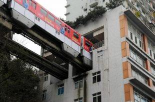 Aglomerația urbană din China i-a determinat pe arhitecți să găsească soluții inedite pentru transportul din oraș. Foto: VCG/Getty