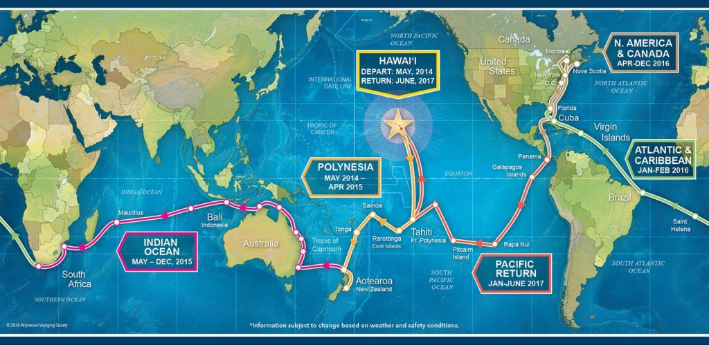 hawaii hokulea canoe polinezia calatorie navigare traditioala