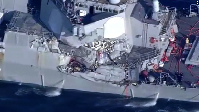 sua japonia uss fitzgerald ciocnire vas razboi comercial soldati disparuti