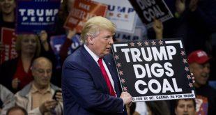 """Președintele Statelor Unite ale Americii a promis în timpul campaniei electorale prezidențiale din 2016 că va """"pune capăt războiului împotriva industriei cărbunelui"""", în ciuda apelului companiilor de exploatare carboniferă, care l-au îndemnat în luna aprilie să nu retragă SUA din acordul semnat la Paris privind angajamentul pentru reducerea efectelor schimbărilor climatice. Foto: Dominick Reuter/AFP"""