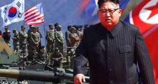 """Liderul suprem al Coreei de Nord, Kim Jong-un, a anunțat recent că Phenianul este pregătit să lanseze un atac nuclear asupra bazei militare americane din Guam, în Oceanul Pacific. Afirmațiile sale au fost vehement criticate de președintele american Donald Trump, care a avertizat că armata SUA este """"pregătită și cu degetul pe trăgaci"""" dacă va fi supusă unui atac. Sursa foto: Express.co.uk"""